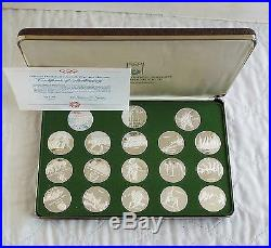 MUNICH 1972 OLYMPIC GAMES 18.999 FINE SILVER PROOF MEDAL SET boxed/coa