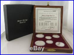 Mexico Prestige Proof 5 Pcs Coin Set Fine Silver. 925 Limited #5/1000 BOX & COA