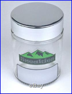 Modern Odor Smell Proof Stash Box With Grinder Rolling Tray Glass Jars Silver