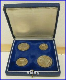 Monaco Essais Silver Proof 4-coin Pattern / Trial Set 1950 Boxed Mintage of 500