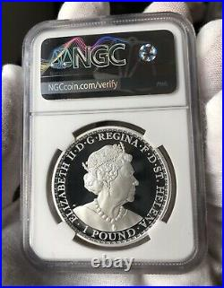 NGC PF70 2020 1oz Gilt ST. Helena Una and The Lion Silver coin Proof COA&BOX