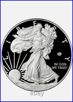 New in Box 2020 W American Silver Eagle Proof V75 End of World War II in OGP COA