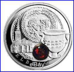Niue 2011 2012 9 x1$ Amber Route Collection Silver Coin In Box and Coa Proof