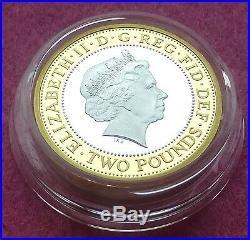 Outbreak 2014 Uk £2 Two Pound Silver Proof Piedfort Coin Box + Coa