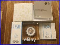 PETER RABBIT 2016 SILVER PROOF 50p COIN MINT CONDITION BOXED WITH CERTIFICATE