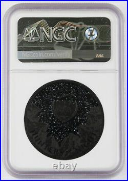 Palau 2020 $10 Black Panther 2 Oz Silver Proof Piefort Coin NGC PF70 +Box & COA