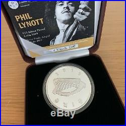 Phil Lynott Silver Proof Coin Commerative 2019 New In Presentation Box