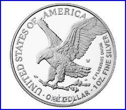 Presale 2021-W Proof $1 Type 2 American Silver Eagle Box, OGP & COA