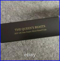 Queen's Beasts 2021completer Coin 1 Ounce Silver Proof Ngc Graded Pf70 + Box