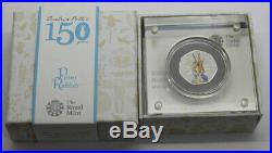 Royal Mint 2016 Beatrix Potter Peter Rabbit Silver Proof 50p Coin in Box
