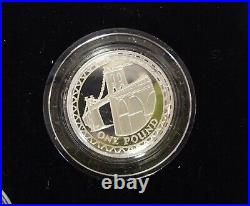 Royal Mint Silver Proof 5 x £1 One Pound Coin Box Set 2003-2007 Yearly Designs