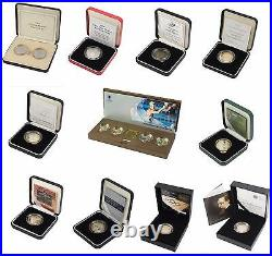 Silver Proof Piedfort £2 Two Pounds Royal Mint Boxed And Coa Choice Of Date