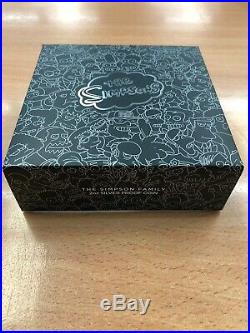Simpsons Family 2oz Silver Proof Rare Only 2000 Minted Boxed With Coa In Display