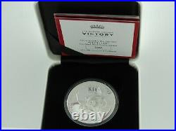 St. Helena 1 oz Silver Proof Queen's Virtues-Victory, 1st of series, box & coa
