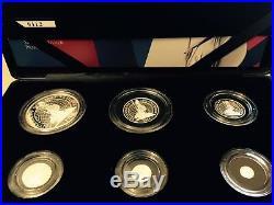 The Britannia 2014 Uk 6 Six Coins Silver Proof Set Boxed + Coa Cheapest On Ebay
