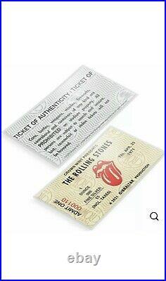 The Rolling Stones 2021 Gibraltar 1oz Proof Silver Coin Box/COA