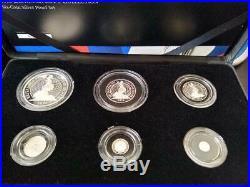 UK 2014 britannia 6 silver coins proof set with original box and coas NEW