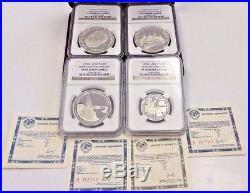USSR 1988 Proof Set 4 Coins Platinum Palladium Silver NGC PF69 Box COA Russia