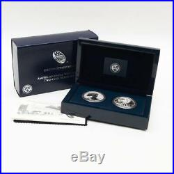 U. S. Mint 2013-W American Silver Eagle Two-Coin Silver Proof Set with Box & COA