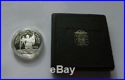 VERY RARE PANAMA 20 BALBOAS 1982 PROOF 119,88 g SILVER SET with ORIG BOX + COA