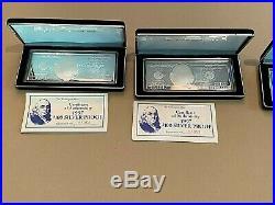 WASHINGTON MINT 1997 $100 SILVER PROOF 4 OUNCES. 999 BOX & CERTIFICATE Wow piece