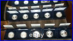 W@W `86-`20 35 American Silver Eagle Proof Set BOX COA `19 PF69 Limited Edition